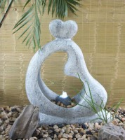 """Садовый фонтан с подсветкой """"Любовная Идилия"""""""