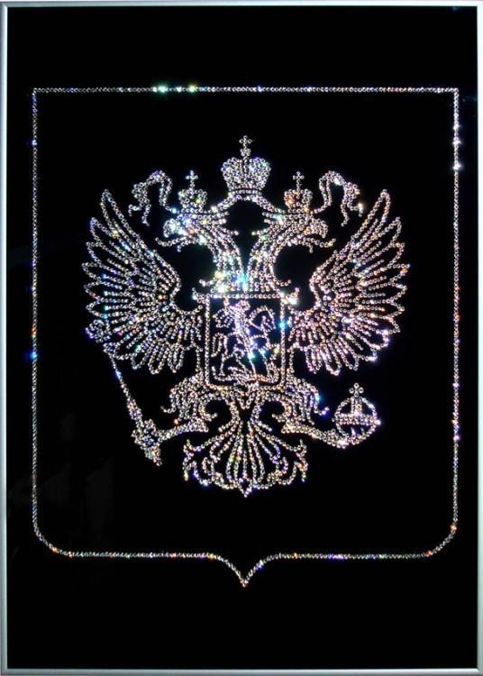 """Картина Сваровски """"Двухглавый орел ...: www.eurosuvenir.ru/index.php?productID=967"""
